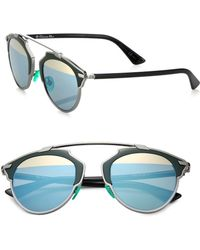 Dior So Real 48Mm Pantos Sunglasses green - Lyst