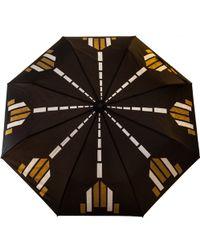 Raindance Umbrellas Bijoux Gold & Silver - Black