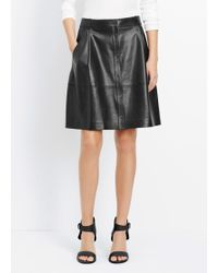 Vince - Leather Snap Front Skirt - Lyst