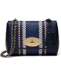Mulberry | Lily Small Woven Raffia And Leather Shoulder Bag | Lyst