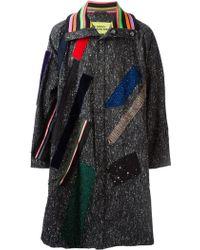 Raf Simons Oversized Applique Coat - Lyst