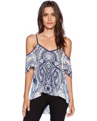 Greylin Wilma Mirrored Off Shoulder Top - Lyst