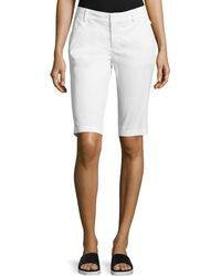 Vince Side-Buckle Bermuda Shorts - Lyst