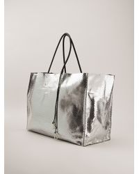 A Brand Apart - Metallic Oversized Shopper - Lyst