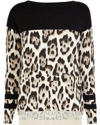 Karen Millen Leopard Print Jumper - Lyst
