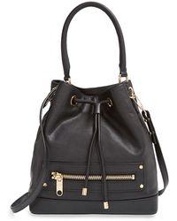 Milly Women'S 'Riley' Leather Bucket Bag - Black - Lyst