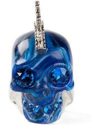 Alexander McQueen Punk Skull Ring - Lyst