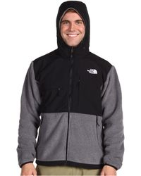 The North Face Gray Denali Hoodie - Lyst