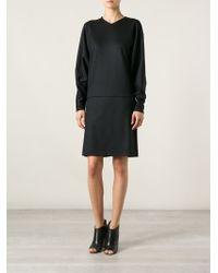 Chloé Long Sleeve Shift Dress - Lyst