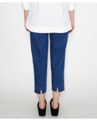 Piazza Sempione - Blue Denim Capri Zip Jeans - Lyst