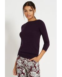 Oasis Stitched Slash Neck Top - Lyst