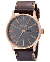 Nixon   Sentry Rose Steel Watch   Lyst