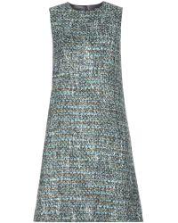Dolce & Gabbana Gray Tweed Dress - Lyst