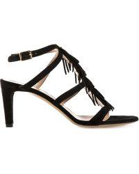 Chloé Fringed Sandals - Lyst
