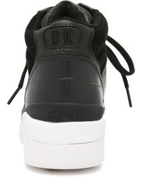 DKNY - Connie High Top Trainers - Black - Lyst