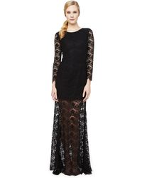 Erin Fetherston Anjelica Lace Overlay Gown - Lyst
