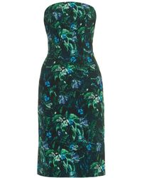 Erdem Saskia Floral-Print Dress green - Lyst