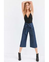 Cooperative Naomi Cropped Tie-waist Pant - Blue