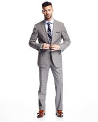 BOSS - Modern-fit James Two-piece Check-print Suit - Lyst