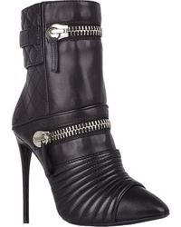 Giuseppe Zanotti Quilted Moto Ankle Boots - Lyst