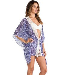 Taj Blue Coverup - Lyst