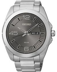 Seiko Men'S Solar Stainless Steel Bracelet Watch 45Mm Sne273 - Lyst