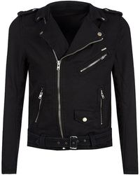 Diesel Bhonzer Jogg Jeans Biker Jacket - Lyst