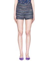 Diane von Furstenberg | 'fausta' Stripe Tweed Shorts | Lyst