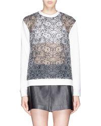 Nicopanda - Embroidered See Through Panels Sweatshirt - Lyst