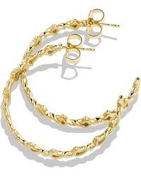 David Yurman Venetian Quatrefoil Hoop Earrings with Diamonds in Gold - Lyst