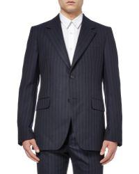 Alexander McQueen Navy Slimfit Wool and Cashmereblend Suit Jacket - Lyst