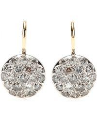 Roberto Marroni | Rhodium-plated 18kt White Gold Diamond-encrusted Earrings | Lyst