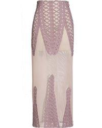 Jonathan Simkhai Tread Lace Inset Angel Skirt pink - Lyst