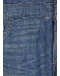 6397 - Blue Faded Denim Jumpsuit - Lyst