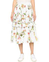 Leur Logette Garden Rose Skirt - White
