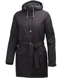 Helly Hansen Lyness Waterproof Insulated Women's Raincoat - Black