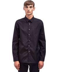 Raf Simons Mens R Logo Slim Fit Shirt - Lyst