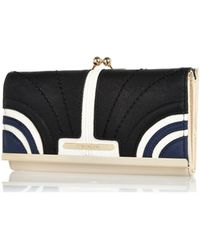 River Island Navy Curved Panel Colour Block Purse - Lyst