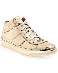 Jimmy Choo 'Bells' Leather & Suede Sneaker - Lyst