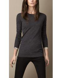 Burberry Merino Wool Sweater - Lyst