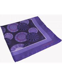 Tateossian - Big Ben Patterned Silk Pocket Square In Purple - Lyst
