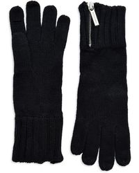 Michael by Michael Kors Zipper Accented Gloves - Lyst