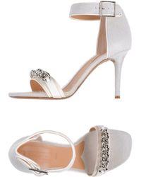 Celine White Highheeled Sandals - Lyst