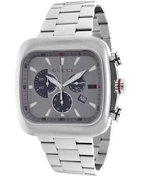 Gucci Men'S Grey Dial Stainless Steel - Lyst