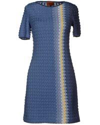Missoni Blue Short Dress - Lyst