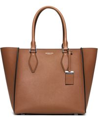 Michael Kors Gracie Large Leather Tote brown - Lyst