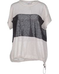 Brunello Cucinelli Sweater white - Lyst