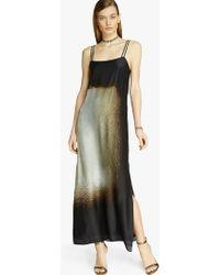 Halston Scarf Printed Maxi Dress black - Lyst