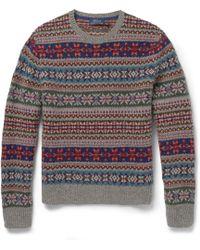 Polo Ralph Lauren Geometric Pattern Sweater - Lyst