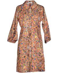 Jil Sander Short Dress multicolor - Lyst